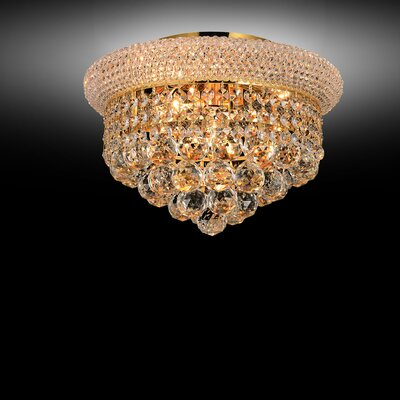 4-Light Flush Mount Size: 7 H x 10 W x 10 D