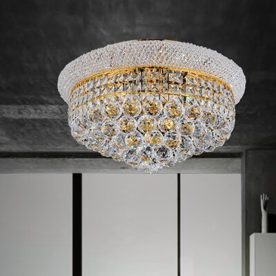 4-Light Flush Mount Size: 11 H x 14 W x 14 D