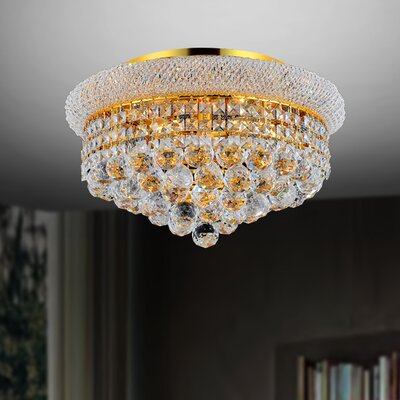 4-Light Flush Mount Size: 8 H x 12 W x 12 D