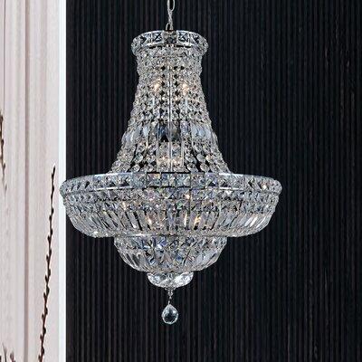 15-Light Crystal Pendant Size: 155 H x 30 W x 30 D