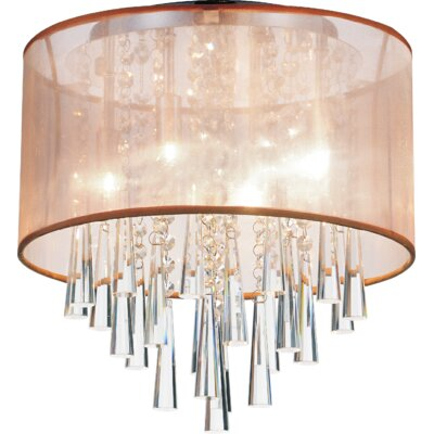4-Light Flush Mount Shade Color: Gold