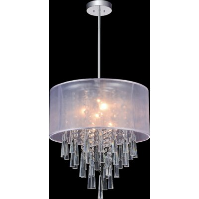 6-Light Drum Pendant Shade Color: Off White