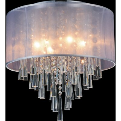 4-Light Flush Mount Shade Color: Silver
