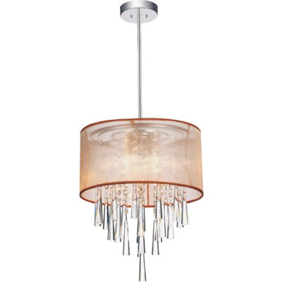 4-Light Drum Pendant Shade Color: Gold