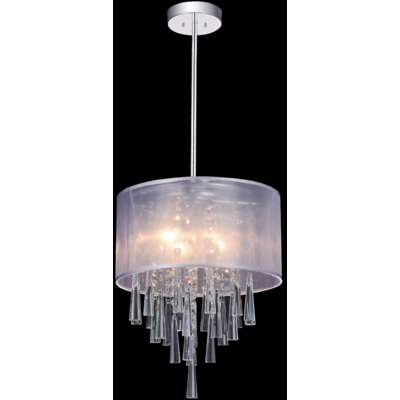 4-Light Drum Pendant Shade Color: Off White