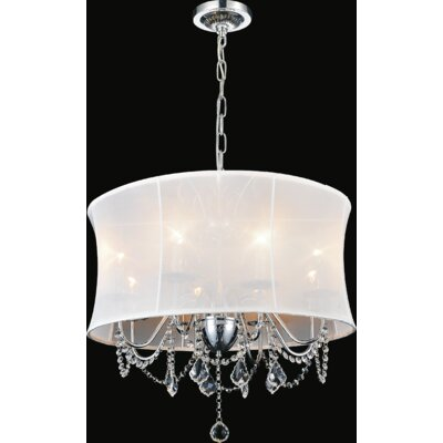 8-Light Shaded Chandelier Shade Color: White