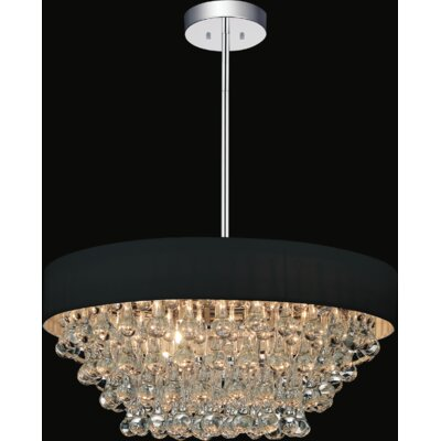 8-Light Drum Chandelier Shade Color: Black