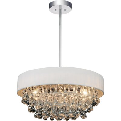 8-Light Drum Chandelier Shade Color: White