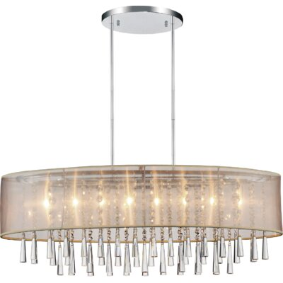 Renee 8-Light Drum Chandelier Shade Color: Beige