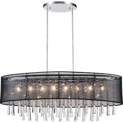 Renee 8-Light Drum Chandelier Shade Color: Black