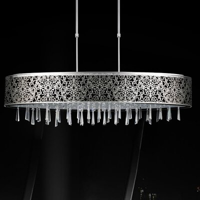 7-Light Drum Pendant Shade Color: Black