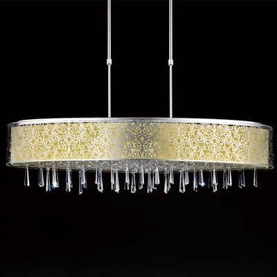 7-Light Drum Pendant Shade Color: Off White