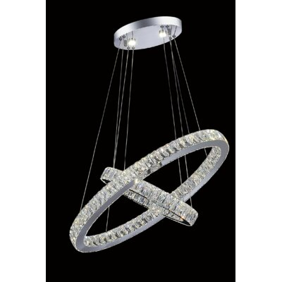 Florence LED Light Crystal Chandelier Crystal Color: Clear