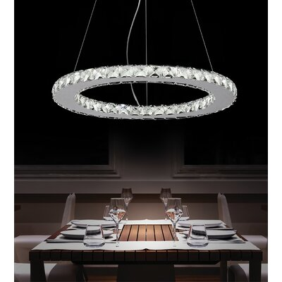 Ring LED 18-Light Crystal Chandelier