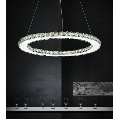 Ring 24-Light Crystal Chandelier