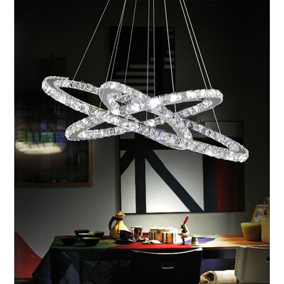 Ring LED Light Crystal Chandelier