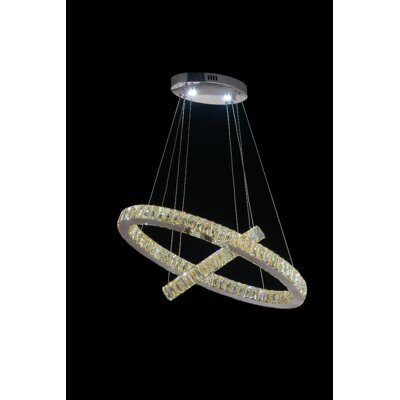 Florence LED Light Crystal Chandelier Crystal Color: Cognac