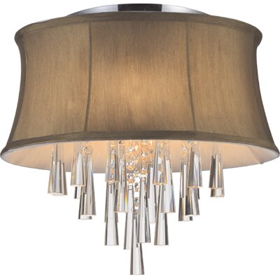 Audrey 4-Light Flush Mount Shade Color: Brown