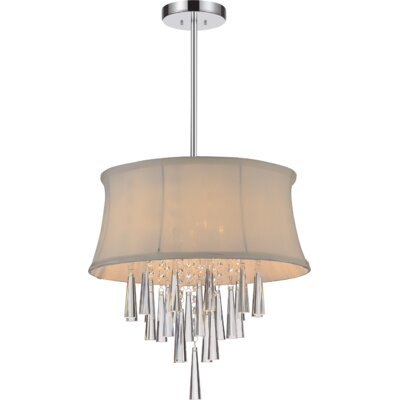 Audrey 4-Light Drum Chandelier Shade Color: Off-White