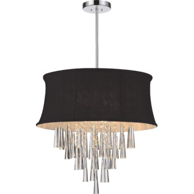 Audrey 6-Light Drum Chandelier Shade Color: Black