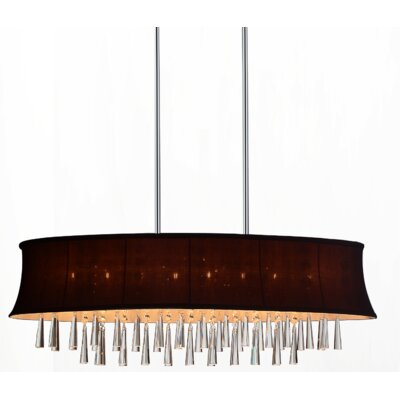 Audrey 8-Light Drum Chandelier Shade Color: Dark Purple