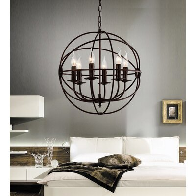 Bird Cage 6-Light Candle-Style Chandelier