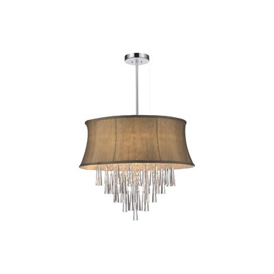 Audrey 6-Light Drum Chandelier Shade Color: Brown