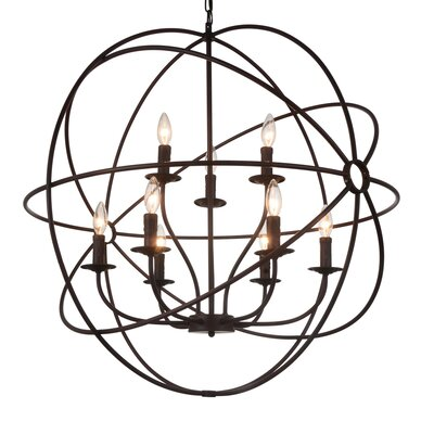Bird Cage 9-Light Candle-Style Chandelier