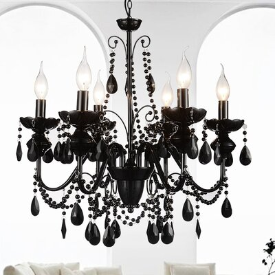 Keen 6-Light Crystal Chandelier