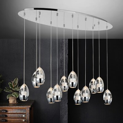 Perrier 12-Light Kitchen Island Pendant
