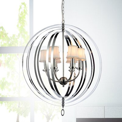 Bird Cage 5-Light Shaded Chandelier