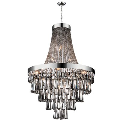 Vast 17-Light Empire Chandelier Crystal Color: Smoke