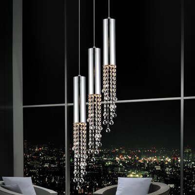Extended 3-Light Cascade Pendant