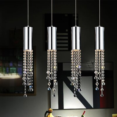 Extended 4-Light Kitchen Island Pendant