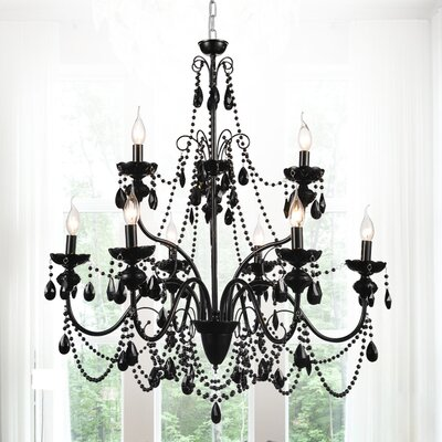 Keen 9-Light Crystal Chandelier