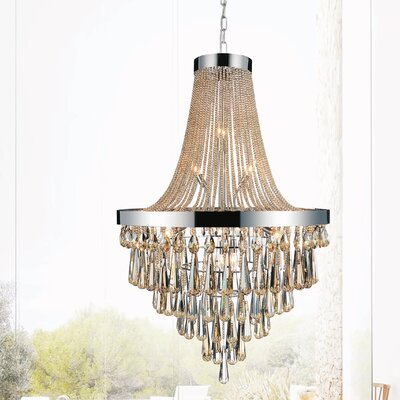 Vast 17-Light Empire Chandelier Crystal Color: Cognac