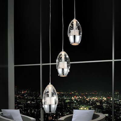 Perrier 3-Light Cascade Pendant
