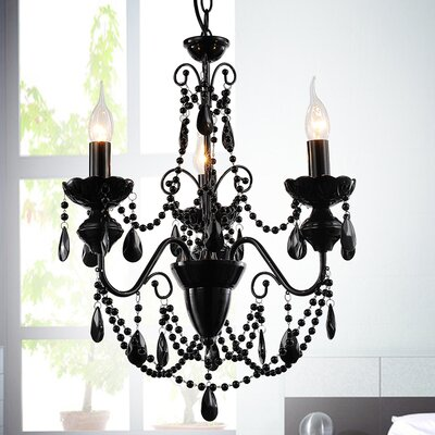 Keen 3-Light Crystal Chandelier