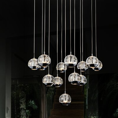 Perrier 13-Light LED Cascade Pendant