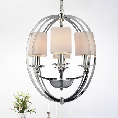 Bird Cage 4-Light Shaded Chandelier