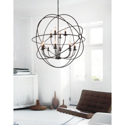Bird Cage 12-Light Candle-Style Chandelier
