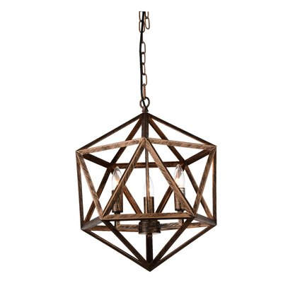 3-Light Foyer Pendant Finish: Antique Forged Copper