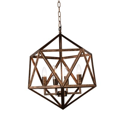 Amazon 4-Light Foyer Pendant Finish: Antique Forged Copper