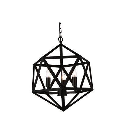3-Light Foyer Pendant Finish: Black