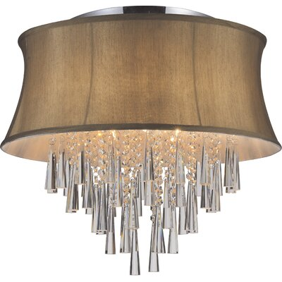 Audrey 8-Light Flush Mount Shade Color: Brown