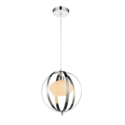 Dahlia 1-Light Mini Pendant Finish: Satin Nickel