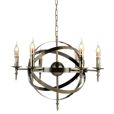 Troy 6-Light Candle-Style Chandelier Finish: Satin Nickel
