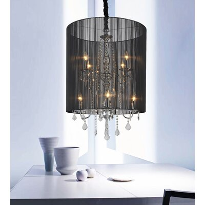 8-Light Drum Pendant Shade Color: Silver