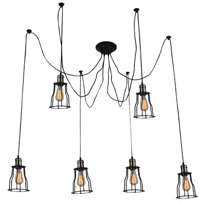 Graham 6-Light Candle-Style Chandelier Finish: Black