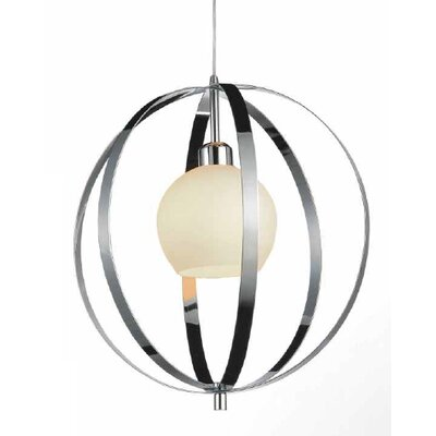 Dahlia 1-Light Globe Pendant Finish: Satin Nickel